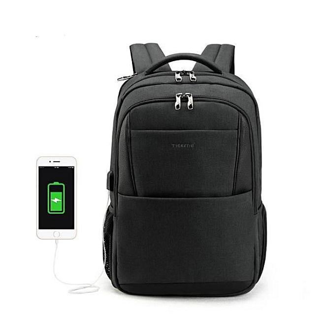 b9a7e46447 New 15.6 laptop backpack men usb large travel backpacks slim waterproof  anti theft black