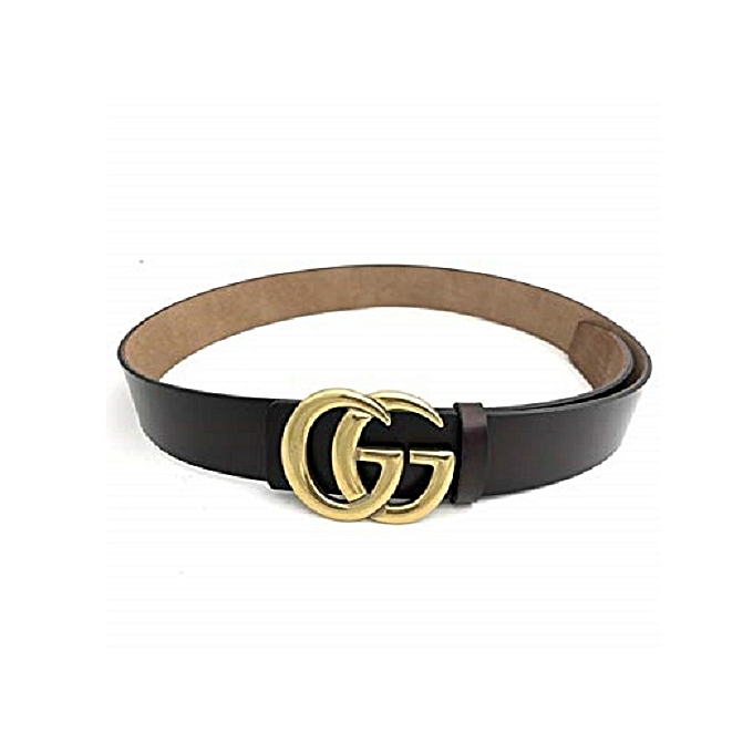 Generic G-Style Gold Buckle Womens Belt - Black   Best Price  fe83a636a9