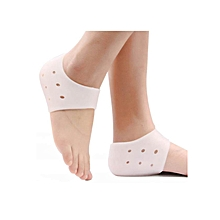 Unisex Silicone Gel Heel Protector Sock for Cracked Foot Skin Ankle Pain Relief Cushion - 1 Pair