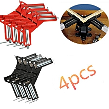 4Pcs 90°Degree Right Angle Picture Frame Corner Clamp Holder Woodworking Hand Kit RED