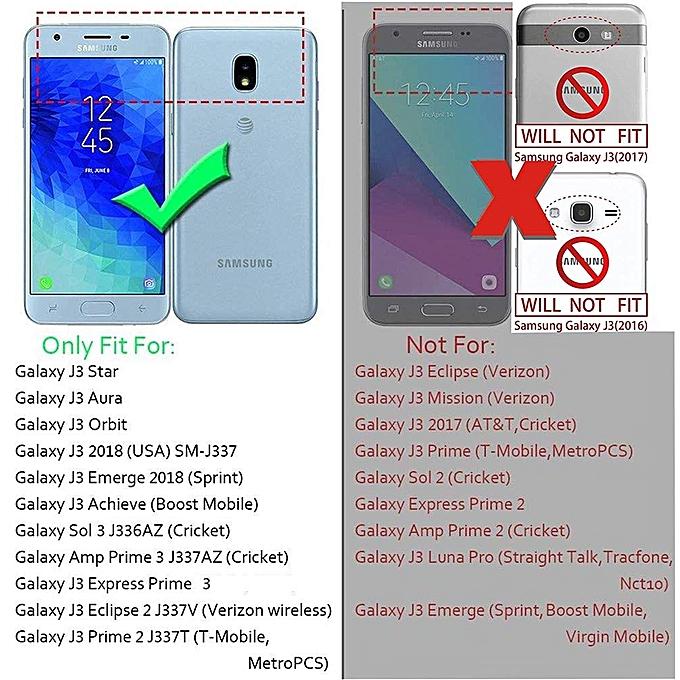 Samsung Galaxy J3 2018 Case,J3 Achieve,J3 Express Prime 3,Amp Prime 3,J3  Star,J3 Orbit, J3 V 3rd Gen, Shockproof Protective with Kickstand Phone  Cases