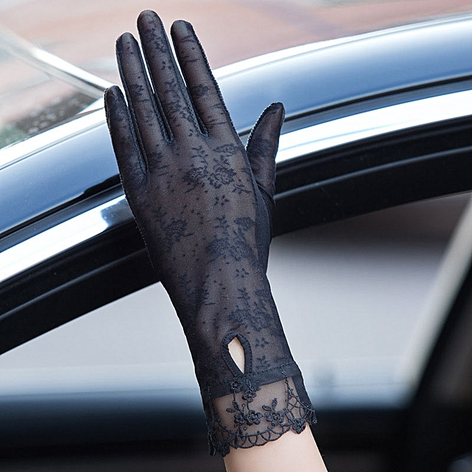 Generic 2019 Summer Sun Protection Gloves Female Thin Lace Gloves