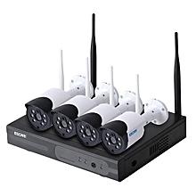 ESCAM WNK404 4CH 720P Outdoor IR Video Security WiFi IP Camera CCTV NVR System AU Plug