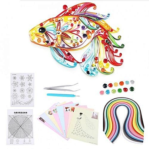 Universal 6 in 1 diy quilled creation paper craft quilling for Quilling kitchen set