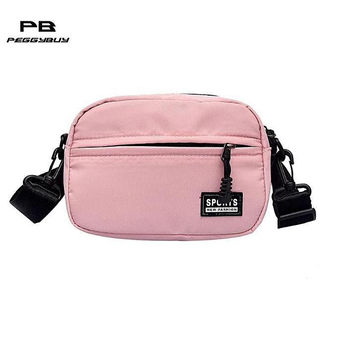 Uni Fashion Shoulder Crossbody Handbags Teen Boys Girls Nylon Messenger Bags Zipper Women Clutch Bag Men Totes Pack Red Bolsa As Piture Shown