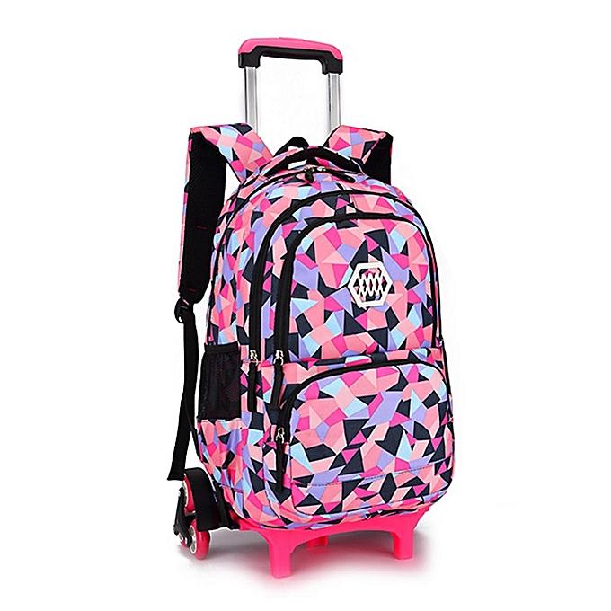 dbd70449b5 Girls Boys Children Trolley Backpack with 6 Wheels Kids Wheeled School Bag  New  6wheel