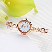 Fashion Ladies Women Unisex Stainless Steel  Rhinestone Quartz Wrist Watch D