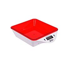 SKS-4520 Kitchen Scale - 5kg  - Red & White