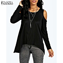 9a36bae4f58b84 ZANZEA Summer Women Off Shoulder Casual O-Neck Long Sleeve Plus Size Blusas  Tops Blouses