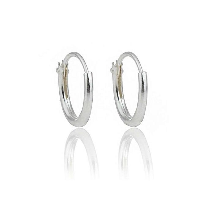 Simple New 925 Sterling Silver Round Huggie Hoop Earrings Men Womenbody Piercing Anti Allergic Jewellery