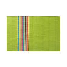 Non-slip insulation rainbow PVC place mat Simple European style table coaster pad hotel
