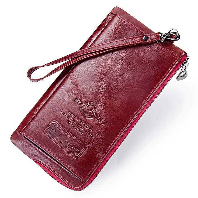 quality design b0c68 d2921 Clutch Bag Fashion Card Holder Wallet New Leather Female Long Wallets Women  Zipper Strap Coin Purse For iPhone 8(Coffee)