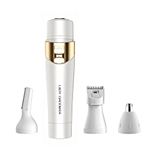 4 In 1 Multifunctional Women Electric Body Face Hair Removal Shaver Epilator