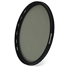 72mm Ultra Thin CPL Circular Polarizer Glass Filter Lens - Black