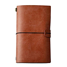 Classic Kraft Paper Strap Notebook Portable Creative Handmade Diary Book Gift BW