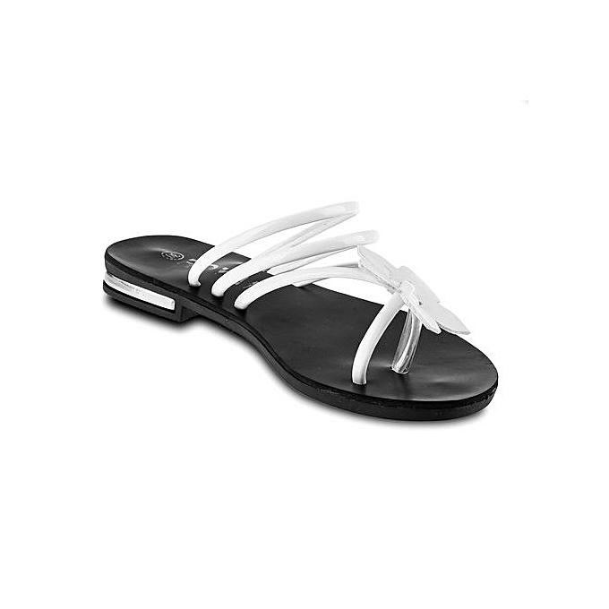 631408c69b7a7 Generic Ladies Sweet Floral Embellishment Beach Sandals-WHITE   Best ...