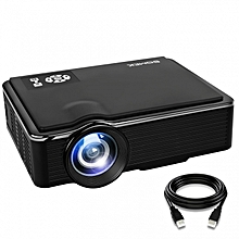 LED Projector 1080p HD Max Support with + FREE HDMI Cable