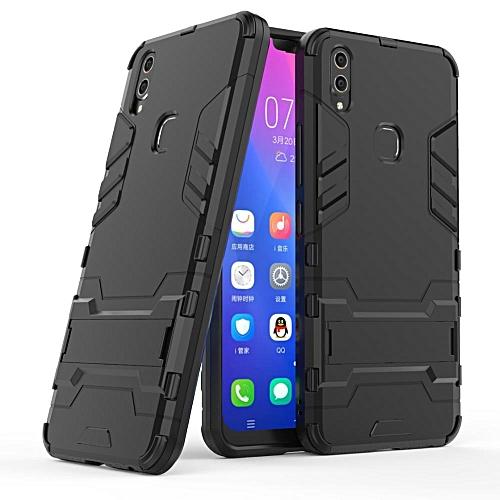 the best attitude 0ecd5 a903e For Vivo V9 Cover Hard Heavy Duty Armor Shield Shell Cover For Vivo V 9  Case For Vivo Y85 Phone Cases 6.3 Inch (Black)