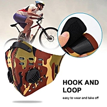 4Colors Durable Warm Anti Dust Pollution Dustproof Filter Half Face Mask For Outdoor Cycling