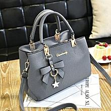 Women Leather Handbag Shoulder Bag Messenger Satchel Shoulder Crossbody Gray-Gray