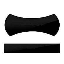 CO 2pcs Magic Nano Rubber Pad Universal Sticker No Trace Mobile Phone Holder-black