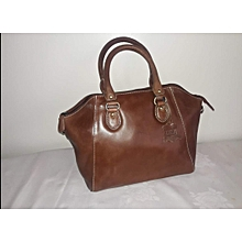 Blousy Brown Pure Leather HandBag