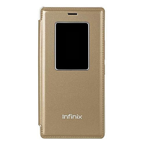 Flip Case with Sensor for Infinix HOT 4 (X557) - Gold