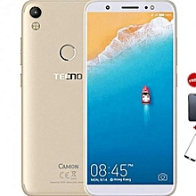 """Camon CM - 5.7"""" - 16GB - 2GB Ram - Champagne Gold + Free Glass Protector + Free Flip Cover."""