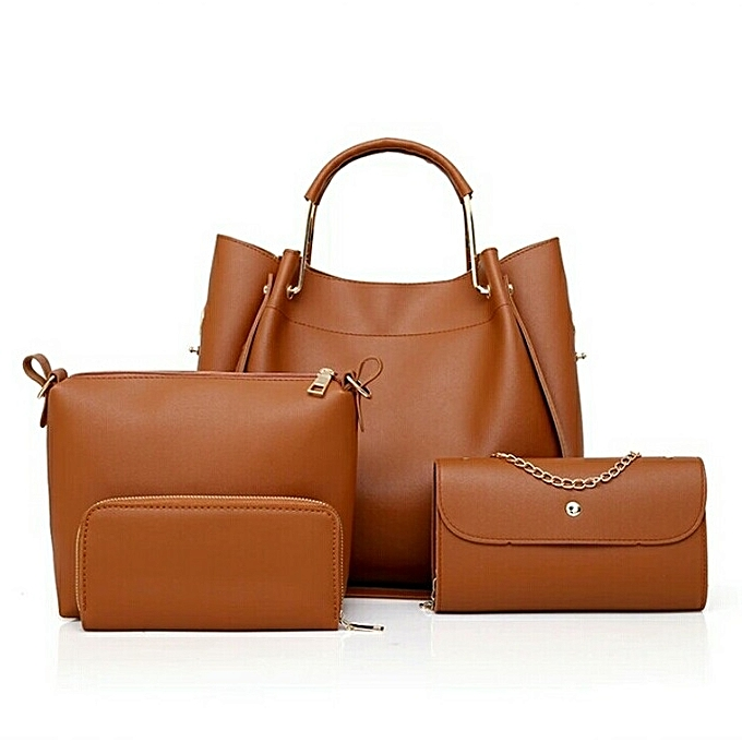 45106d7ebad Generic 4 in 1 Brown Lady s Bag   Best Price