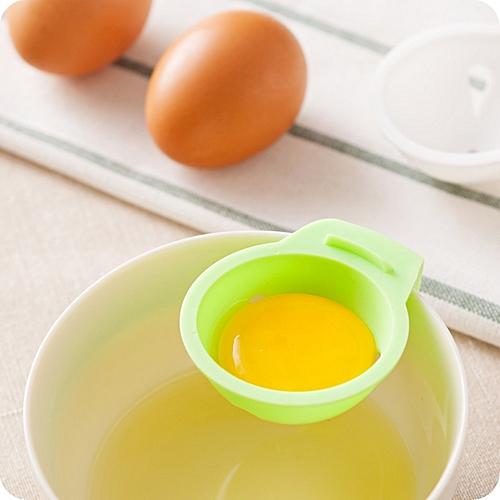 Egg Yolk White Separator Egg Divider Egg Filter Egg Tools with Holder Kitchen Gadget