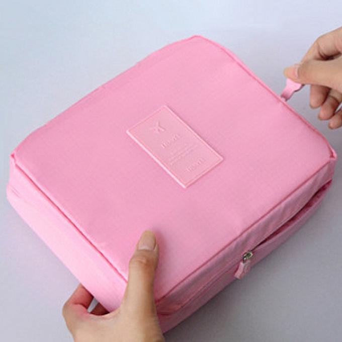 927cafa490e6 Korean Portable Travel Storage Bag Multifunction Cosmetic Bag Organizer  Waterproof Tote Bag Women-pink
