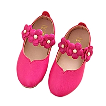 Children Shoes Girl Fashion Flower Kid Shoes Solid All Match Casual Shoes Hot/21-Hot pink