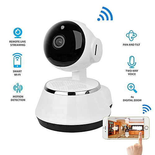 New ! Pan Tilt Wireless IP Camera WIFI 720P CCTV Home Security Cam Micro SD  Slot Support Microphone & P2P Free APP ABS Plastic TXSHOP