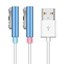 Usb Magnetic Cable For Sony Xperia Z2 Z1 Charging Adapter Charger Cable For Z2 Compact Tablet(Blue)