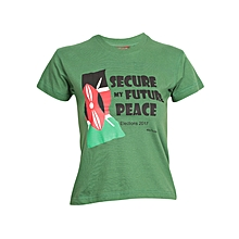 Printed t-shirt - Kids - cotton - Earth Green