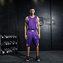 Purple Customized Men's Causal Basketball Team Training Brand Sports Shirts Shorts Jersey