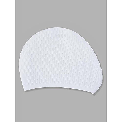 42d598a9c17 Generic Men Women Comfy Stretchy Bubble Swim Cap Waterproof Silicone Caps