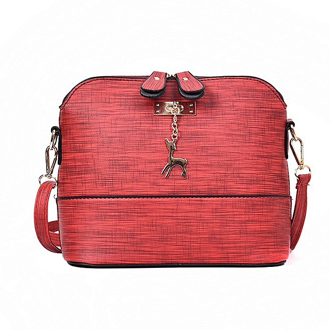 db96ecc08b88 Hiamok New Women Messenger Bags Vintage Small Shell Leather Handbag Casual  Packet RD