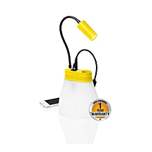 Solar lamp and Phone Charger - Yellow