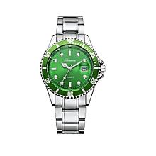 Military GONEWA Date Sport Quartz Analog Stainless Steel Mens Wrist Watch Luxury Brand Watch Wrist Watch-Silver