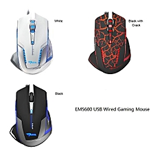 E-3LUE EMS600 Flexible USB Wired Optical Game Mice 2500DPI Adjustable Computer Gaming Mouse