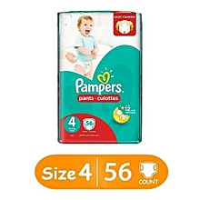 Pants Diapers, Size 4,  Jumbo Pack (Count 56)