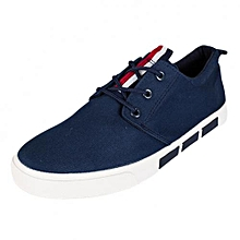 Navy Blue Casual Laced Shoes