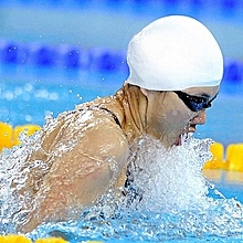 Water Resistant Silicone Swimming Cap Multicolour