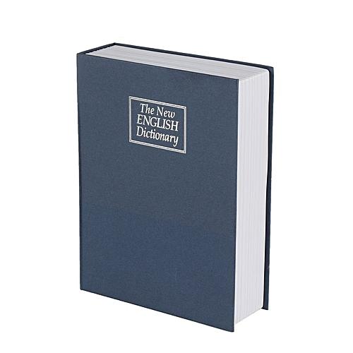 Home-Creative English Dictionary Deposit Money Box with Password Key  Storage Box Blue