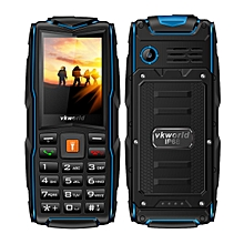 Vkworld New Stone V3 IP68 3000mAh 2.4 Inch 3 SIM Cards 2MP Waterproof Outdooors Mobile Phone Blue