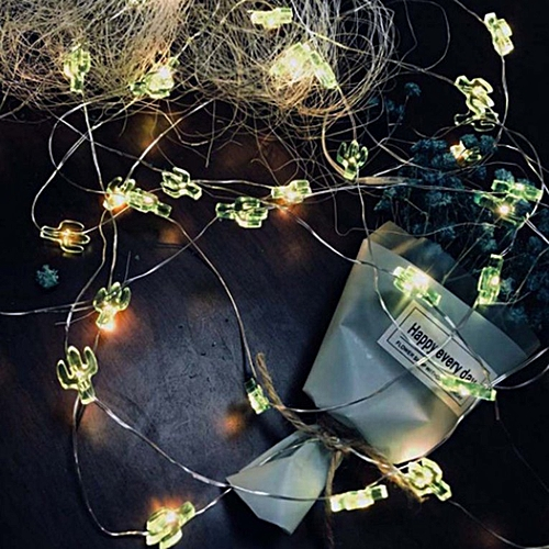 20Led String Light Pineapple Flamingo Green/Transparent Cactus Snowflake  Thumb White