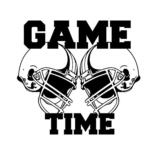 Generic Sticker Football Helmets Game Time Wall Home Decoration Accessories Stickers Decor Living Room