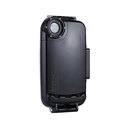 watch 7d2b1 98eac PULUZ for iPhone 7 Plus & 8 Plus 40m/130ft Waterproof Diving Housing Case  for Surfing Swimming Photo Video Taking Underwater Cover (Black)