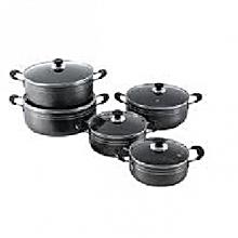 6 Piece- Non Stick Cooking Pots  - Black